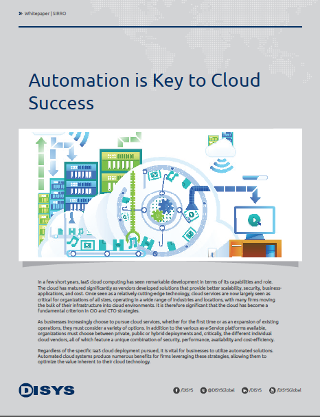 Whitepaper Cover: Automation is Key to Cloud Success